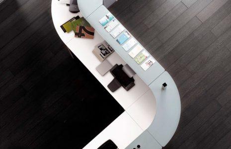 Línea de Mobiliario Nature: despachos, recepciones y puestos de trabajo que siguen una misma línea de calidad.