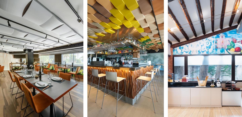 paneles acústicos para restaurantes