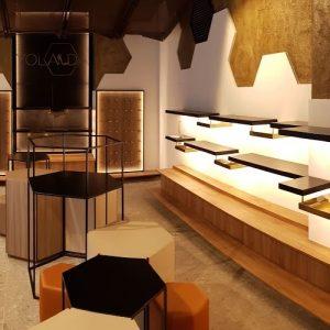 Reforma integral, mobiliario a medida e iluminación en tienda de calzado
