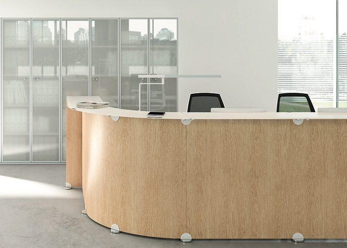 Recepción de Oficina Glass