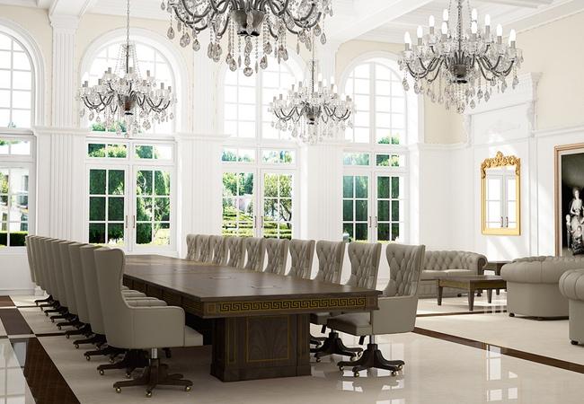 Mobiliario de oficina cl sico y con estilo eqin estudio for Decoracion de salas clasicas modernas