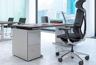 Sillas de oficina Okamura para despachos de dirección