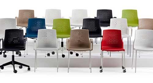 Sillas De Colores Para Oficina.Un Toque De Color A La Oficina Sillas De Colores Eqin Estudio