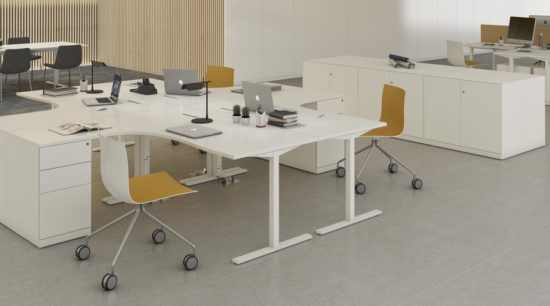 Mesa operativa de oficina Tack