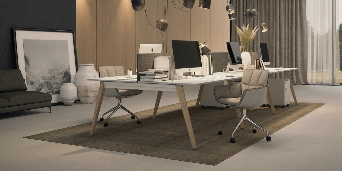 Mesas de oficina Trim Madeira