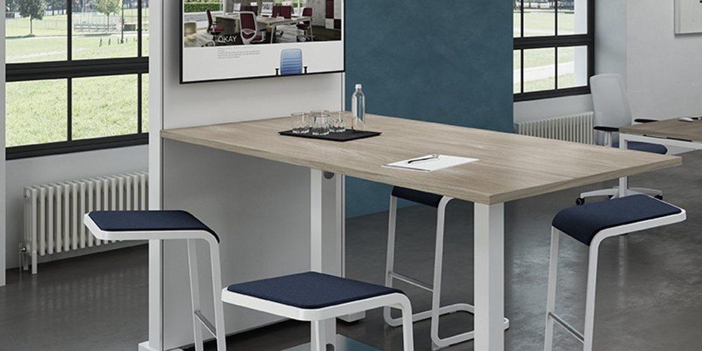 mesas altas de reunión