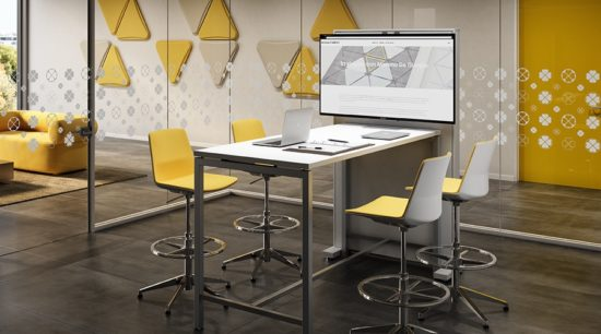Mesa de reunión TV Box Screen