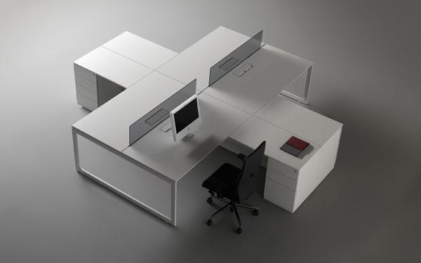 mesas vector de oficina