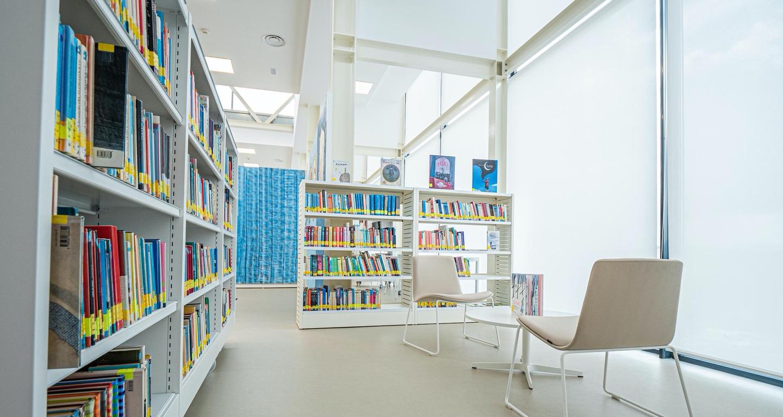 zona de lectura biblioteca