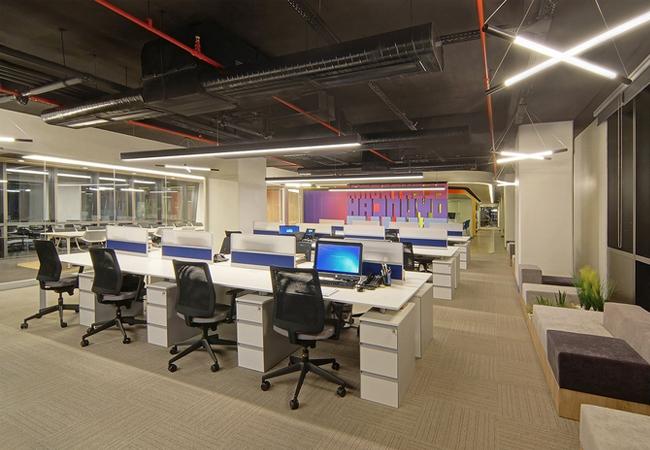 Zona de trabajo espacios coworking